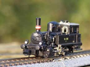 DSB F class N scale (funnel shaped extended tender in Natural Brass