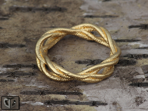 Ring - Wirl in Matte Gold Steel