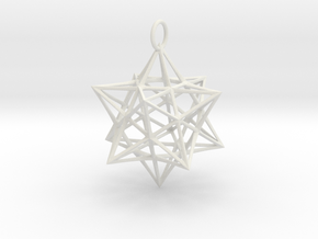 Christmas Bauble 3 in White Natural Versatile Plastic
