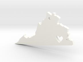 I love Virginia Pendant in White Processed Versatile Plastic