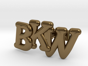 Monogram Cufflinks in Polished Bronze