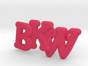 Monogram Cufflinks in Pink Processed Versatile Plastic
