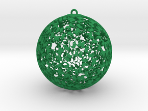 Self Reflection Ornament in Green Processed Versatile Plastic