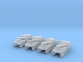 1/285 Maneuver Combat Vehicle (x4) in Smooth Fine Detail Plastic