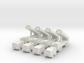 1/285 BGM-109G Gryphon GLCM (x4) in White Natural Versatile Plastic
