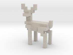 8bit reindeer with sharp corners in Natural Sandstone
