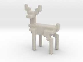 8bit reindeer with rounded corners in Natural Sandstone