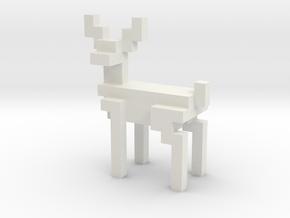 Big 8bit reindeer with sharp corners in White Natural Versatile Plastic