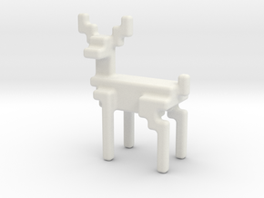 Big 8bit reindeer with rounded corners in White Natural Versatile Plastic