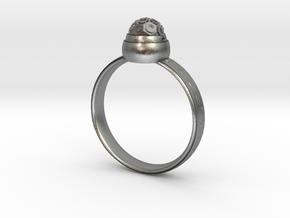Planetarium ring(USA 6,Japan 11, Britain L) in Natural Silver