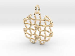 Woven pendant in 14K Yellow Gold
