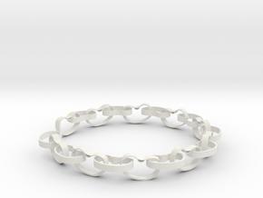 Beans Bracelet in White Natural Versatile Plastic