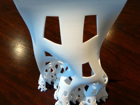 Developing dragon curve (Large) in White Natural Versatile Plastic