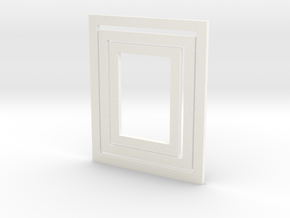 3-piece Modern Frame Collection 1:12 scale in White Processed Versatile Plastic