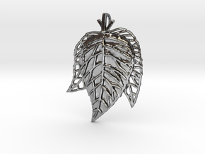 Leaves Trio in Polished Silver