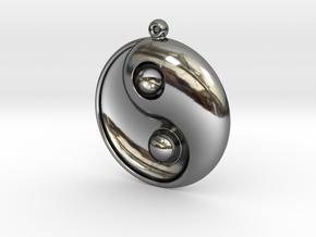Yin Yang - 6.1 - Earring - Right in Premium Silver