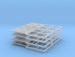 4x4 Skylight - HO scale - 8 units in Smooth Fine Detail Plastic