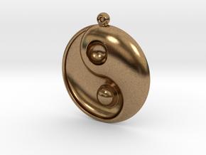 Yin Yang - 6.1 - Earring - Right in Natural Brass