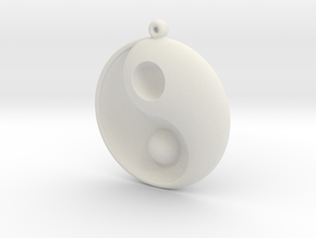 Yin Yang - 6.1 - Earring - Right in White Natural Versatile Plastic