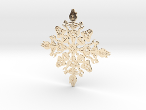 Star Wars Snowflake #1 in 14K Yellow Gold