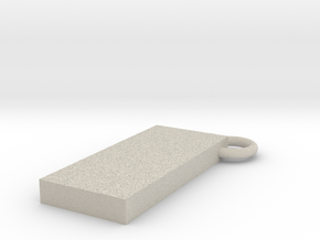 Monolith key chain in Natural Sandstone