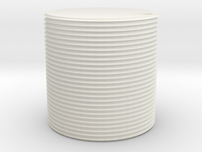 HO scale watertank (solid) in White Natural Versatile Plastic