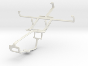 Controller mount for Xbox One & Yezz Andy A4 in White Natural Versatile Plastic