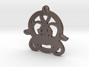 Swans Book of Kells Design V2 in Polished Bronzed Silver Steel