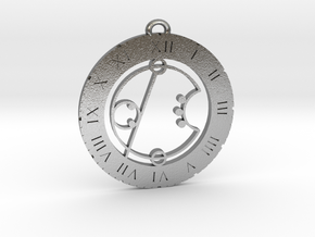 Eric - Pendant in Natural Silver