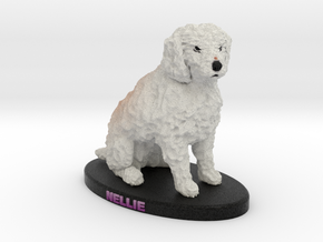 Custom Dog Figurine - Nellie in Full Color Sandstone