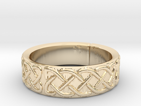 Celtic Knotwork Ring Small in 14K Yellow Gold