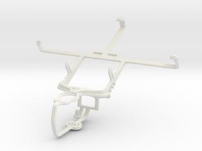 Controller mount for PS3 & ZTE Grand X Quad V987 in White Natural Versatile Plastic