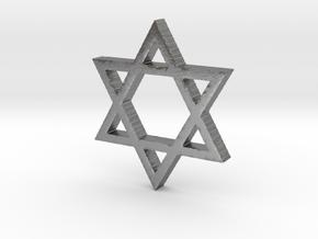 Hexagram in Natural Silver