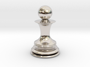 Chess Pawn in Platinum