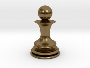 Chess Pawn in Natural Bronze