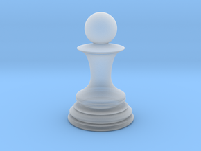 Chess Pawn in Smooth Fine Detail Plastic