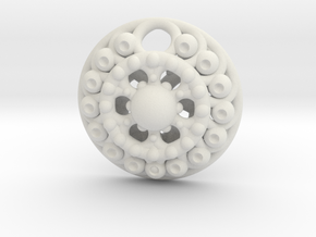 Mandala Pendant 4 in White Natural Versatile Plastic