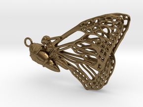 Butterfly Cocoon pendant in Natural Bronze