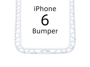 iPhone6/6s Bumper 「truss」 in White Strong & Flexible Polished
