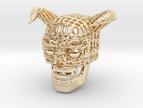 Skull of Devil in 14K Yellow Gold