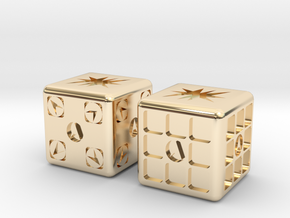 Test Printing Space Dice in 14K Yellow Gold