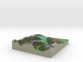 Terrafab generated model Sun Oct 12 2014 20:08:29  in Full Color Sandstone