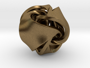 Rose Ball Pendant 20mm in Natural Bronze