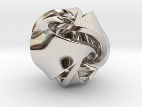 Rose Ball Pendant 20mm in Platinum
