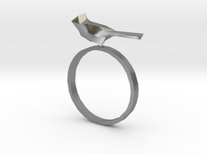 Poly Bird Ring 6 in Natural Silver