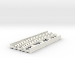 R-9-curve-bridge-track-long-2a in White Natural Versatile Plastic