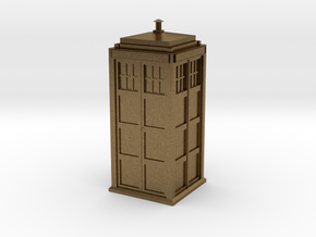 Doctor Who Tardis in Raw Bronze