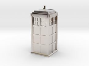 Doctor Who Tardis in Platinum