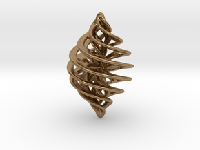 Entanglement Bauble in Natural Brass