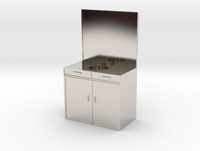 Mini Sink/Vanity for a Mini Bathroom in Platinum
